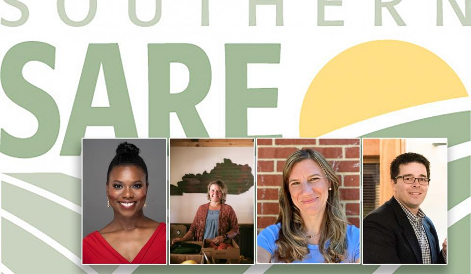 Logo for SSARE and photos of Ashley Smith, Michelle Howell, Stacy Vincent and Nicole Breazeale