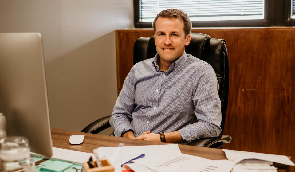 Brad Olson in office